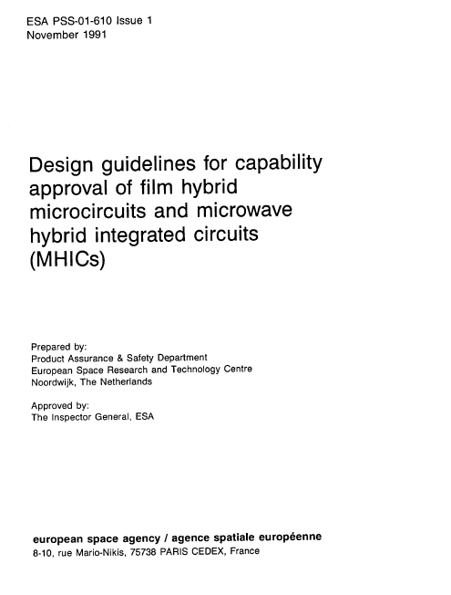 ESA Design Guidelines